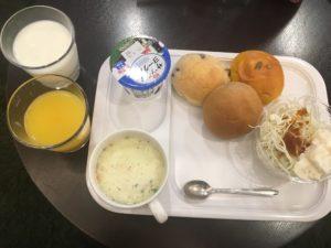 ホテルの軽朝食