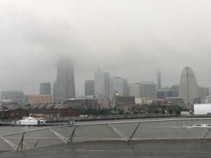 霧のランドマークタワー
