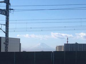さいたまスーパーアリーナからみた富士山