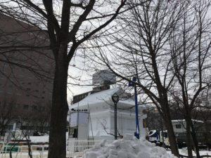 雪祭りの雪像