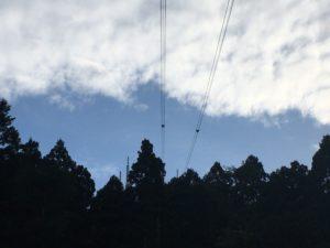 元町配水場から眺める函館山ロープウェイ