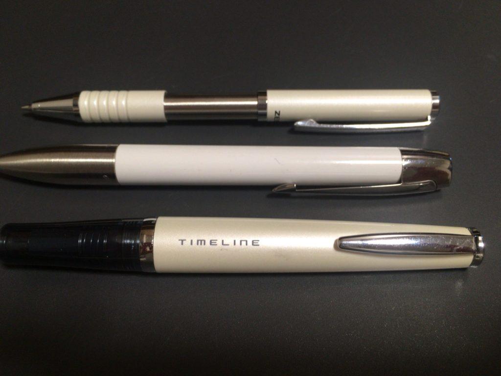 白色のボールペンシリーズ