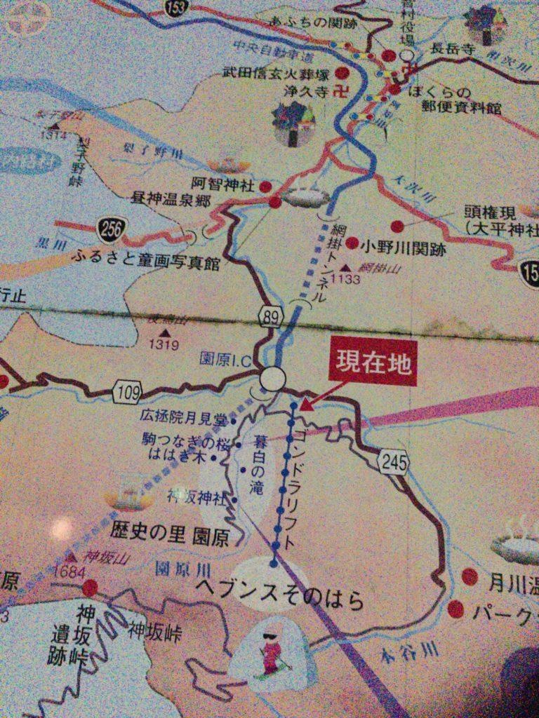 阿智村の地図