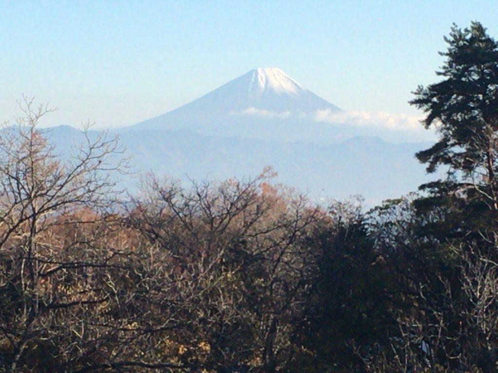 甲斐小泉から見た富士山