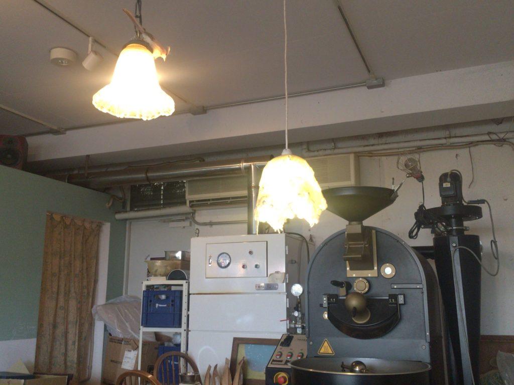 熊谷珈琲の焙煎機