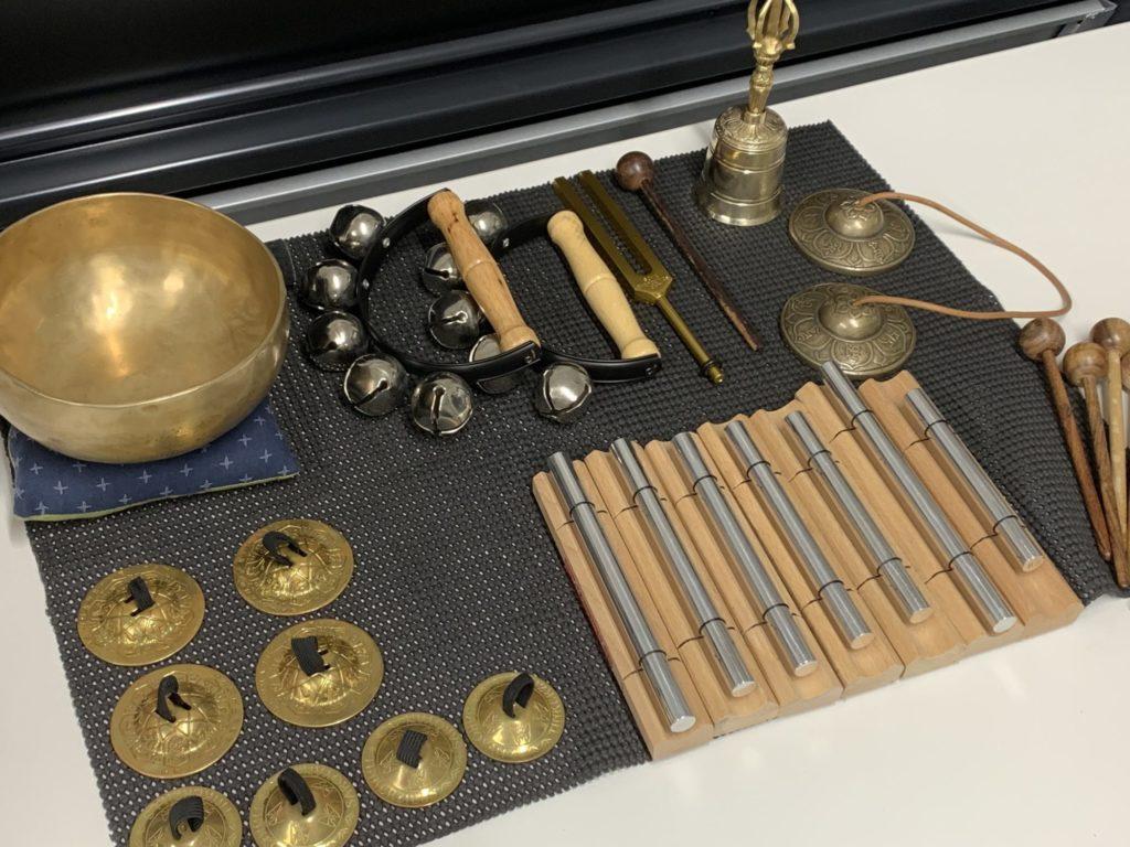 サウンド瞑想会での楽器