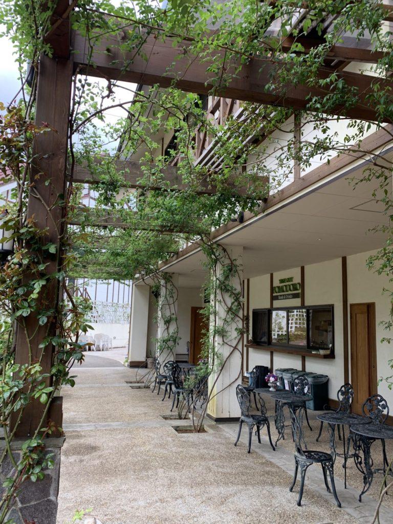 河口湖のハイジズガーデンのレストラン
